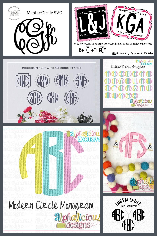 Circle Monogram Fonts Pinterest.