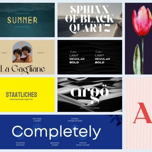 10 Best Google Fonts for Logos Example.