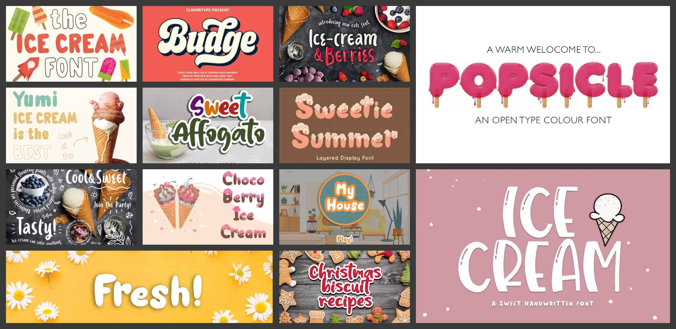 10 Best Ice Cream Fonts Example.