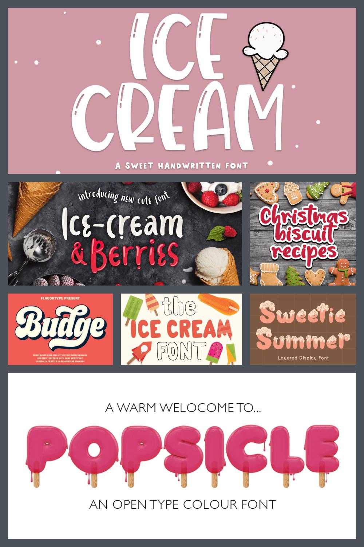 Ice Cream Fonts Pinterest.