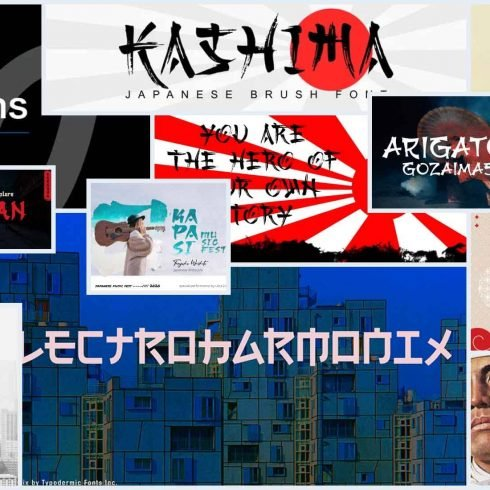 10 Best Japanese Style Fonts Example.