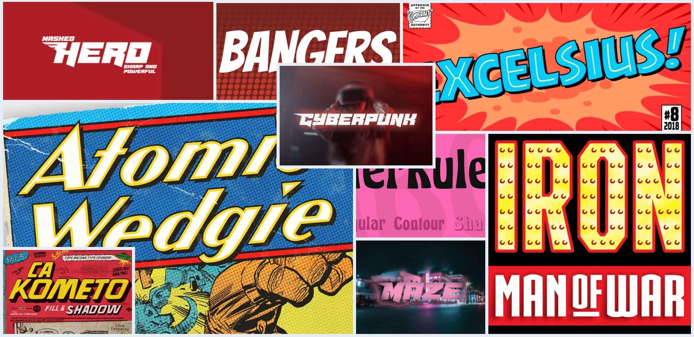 10 Best Superhero Fonts Example.