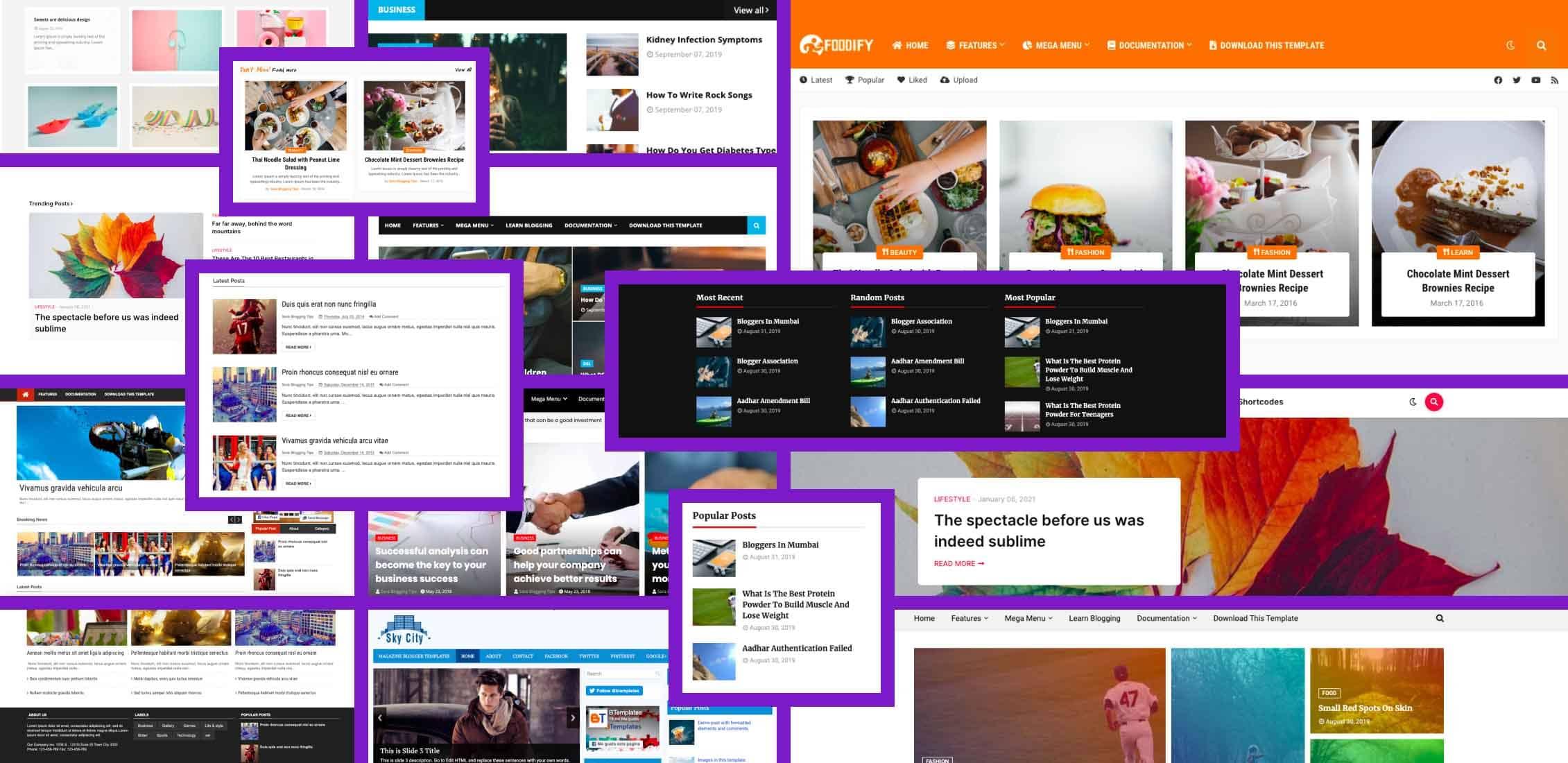 10 Best responsive blogspot templates in 2021 Example.