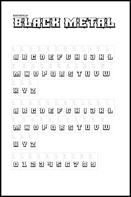 3D font with black border.
