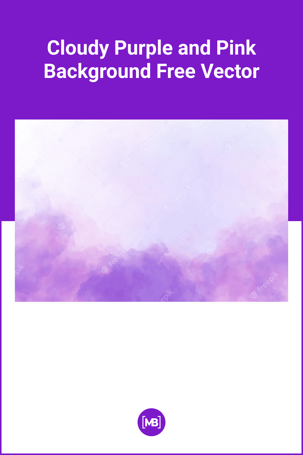 Cloudy purple and pink background.