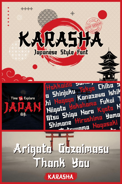 Karasha font.