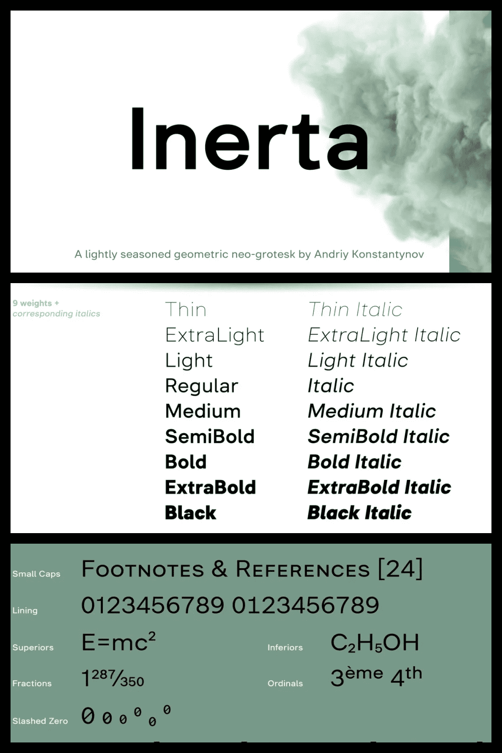 This is a neutral, but not flavourless, cross between a geometric sans and a neo-grotesk.