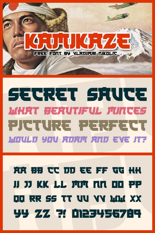 Kamikaze font family.