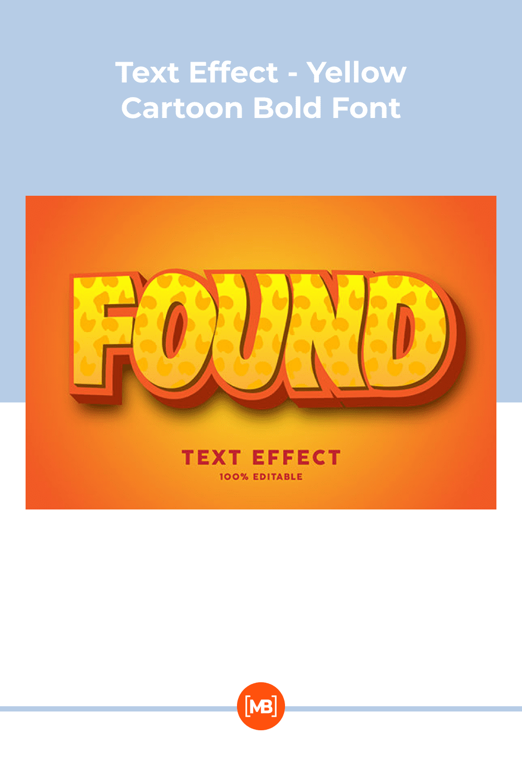 Text effect - yellow cartoon bold font.