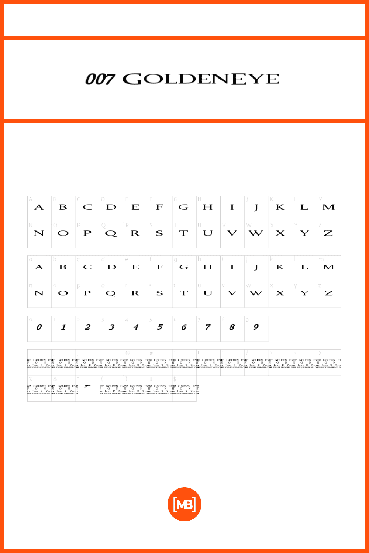 Thin font in elegant style.