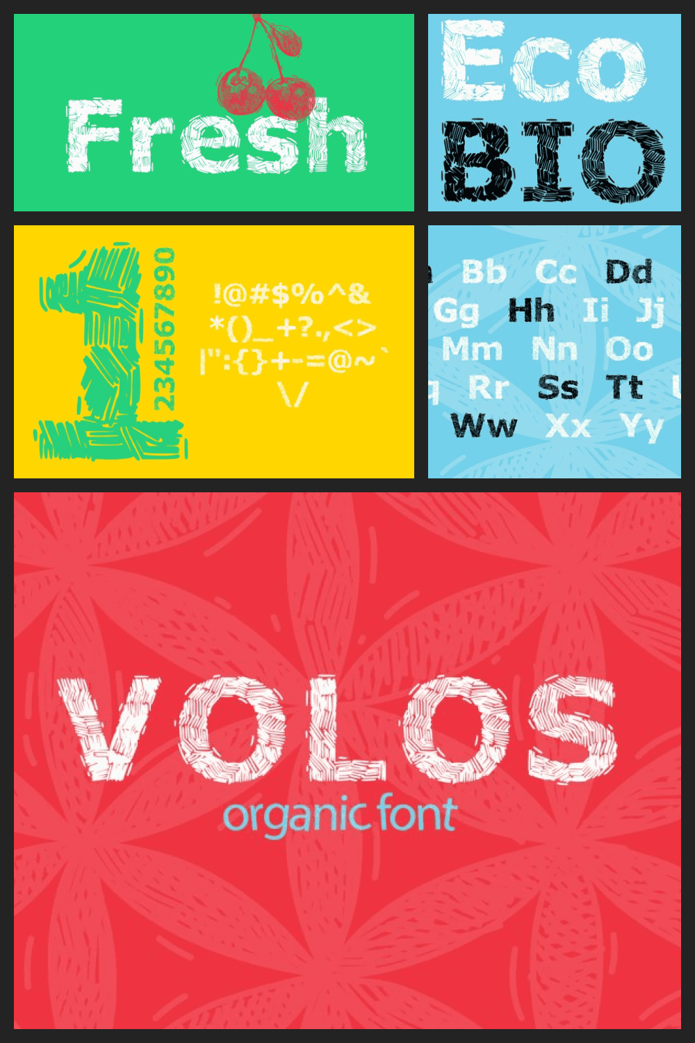 Creative font in line.