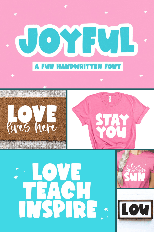 Joyful font - bold handwritten font.