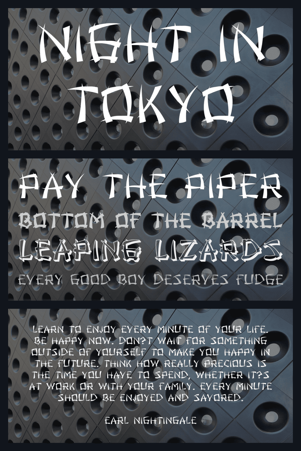 Night in tokyo font family.