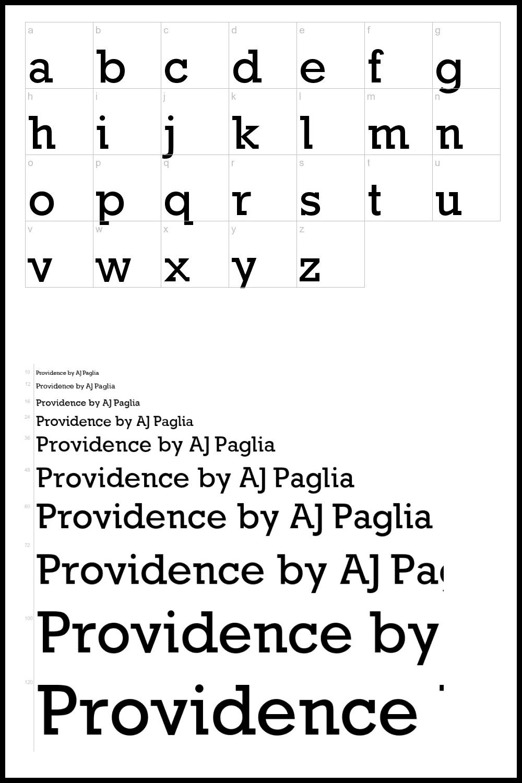 Classic font.