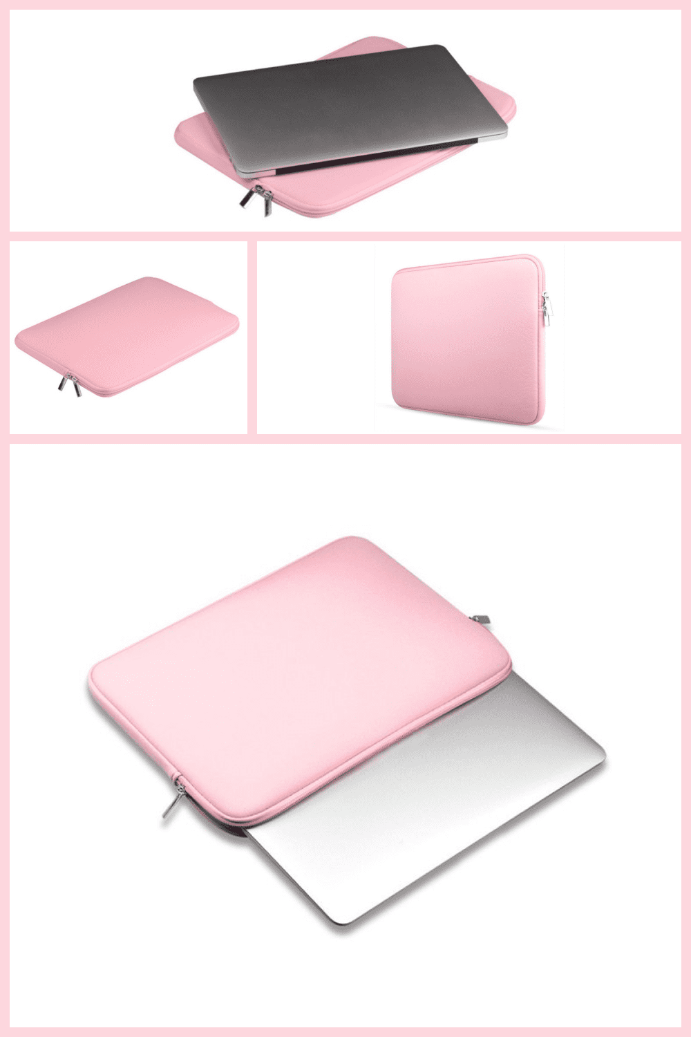 Pink soft cover for macbook to keep it safe.