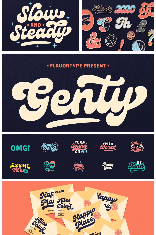 Genty - bold rounded typeface.