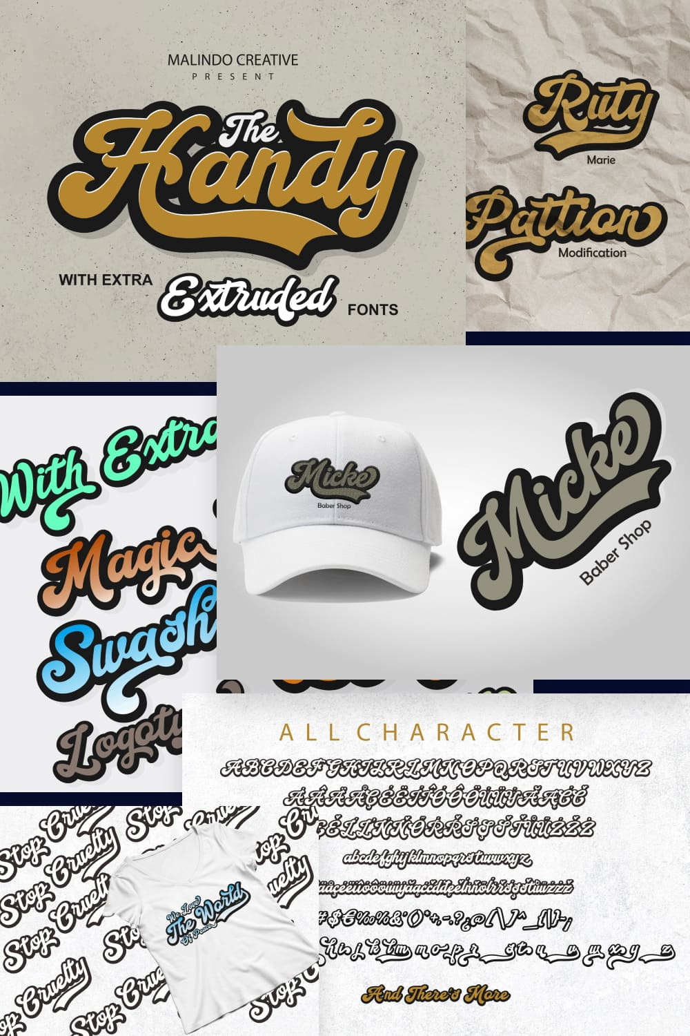 This  Is a beautiful font of retro style, give your typography design a touch of retro style with Handy Script, Handy Script is one of hand lettering project.