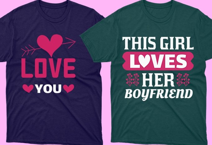 Perfect t-shirts for lovely couple.
