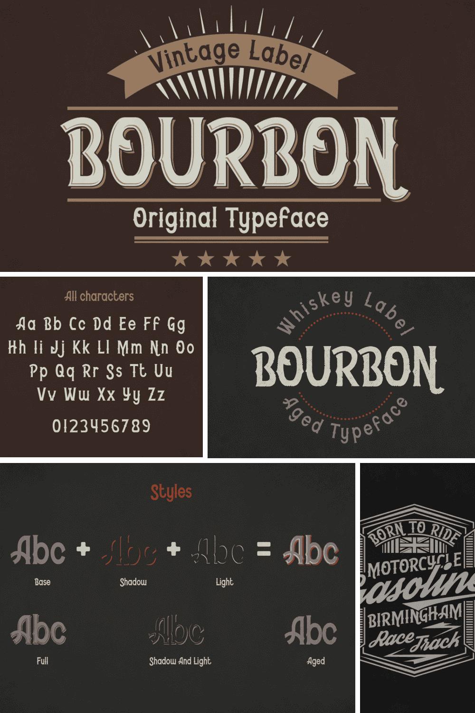 Bourbon font bundle.