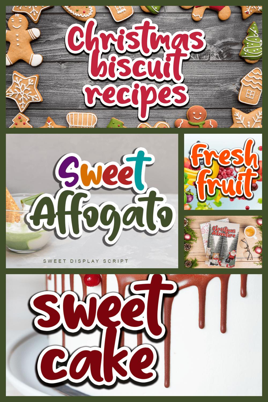 Sweet affogato font.