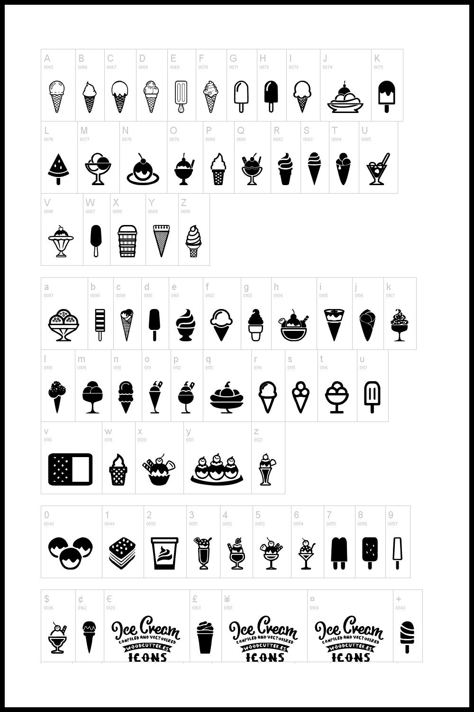 Icons in ice-cream style.