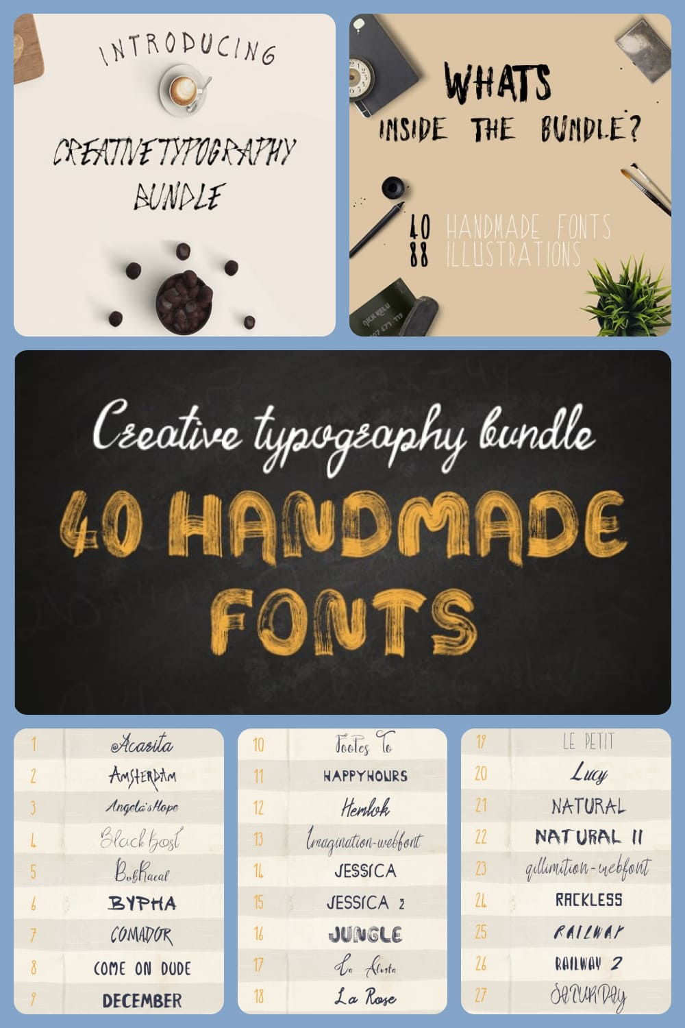 Creative font for stylish and trendy projects.