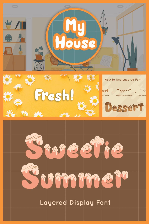 Sweetie summer display font.