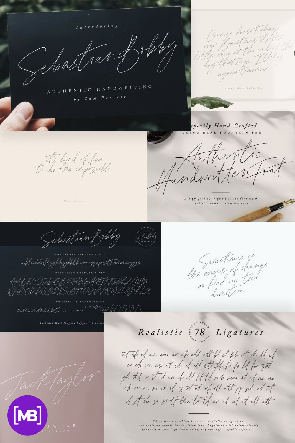 An authentic & organic hand-drawn script font, crafted using a real fountain pen. This font has been carefully designed to re-create natural handwritten text.