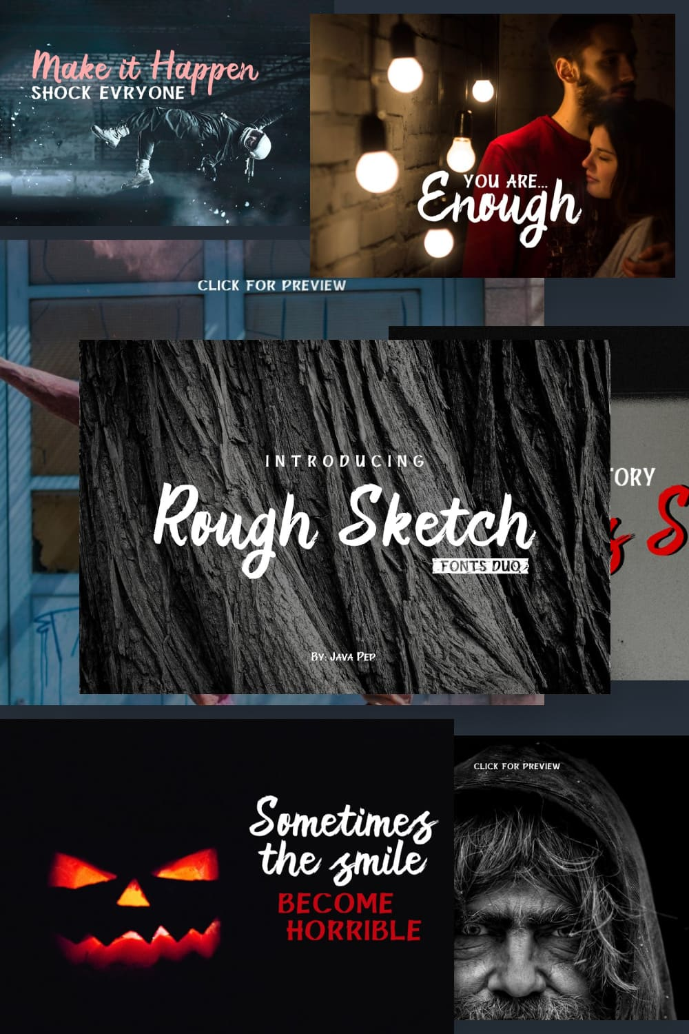 Rough Sketch is a unique font not like the regular font in commonly.