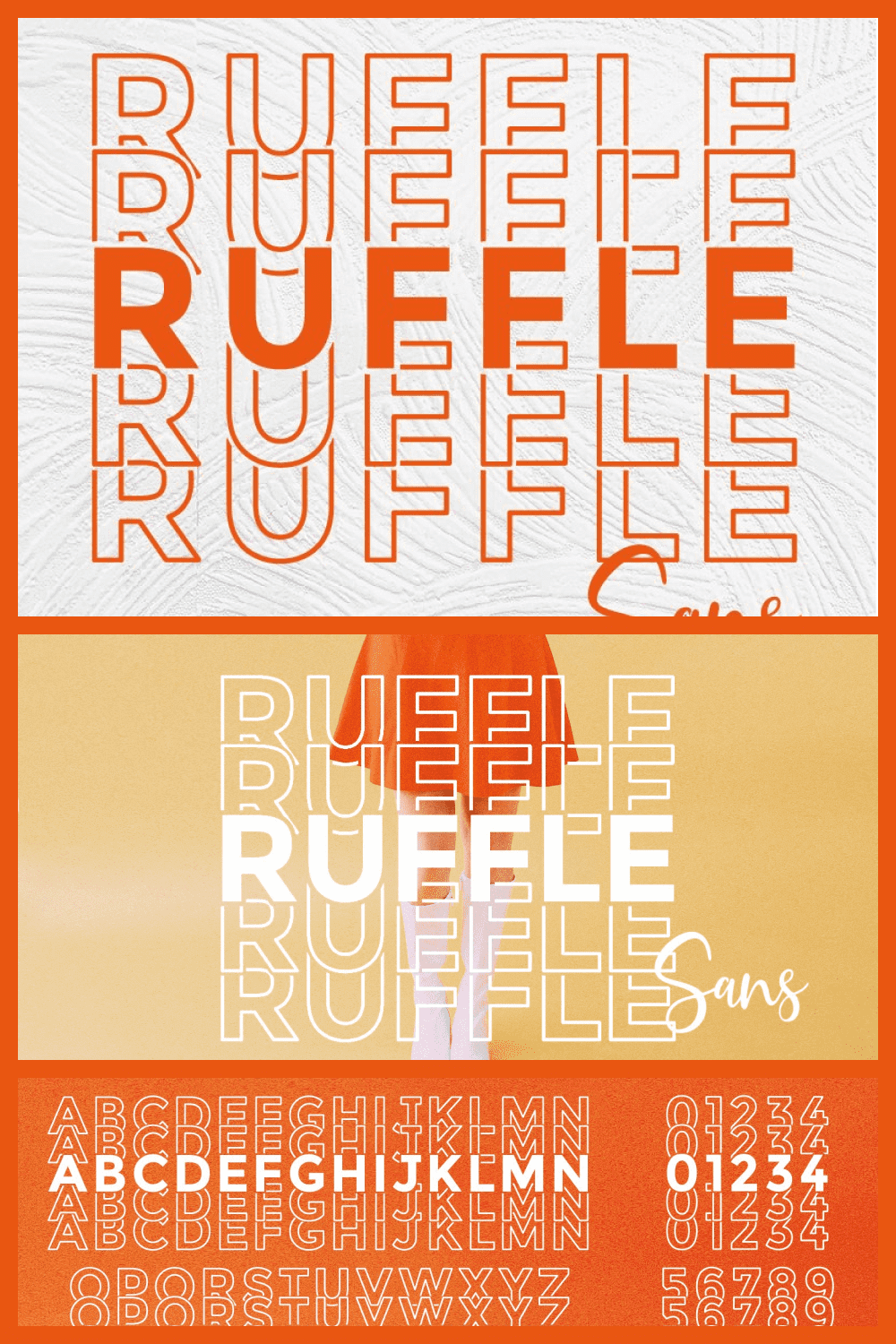 This super-cute sans serif stacked mirror font is perfect when you're making projects that need a little pizzazz.