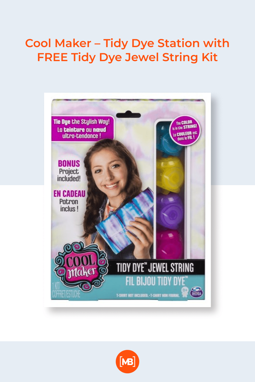 Create your own vibrant fashions with the Tidy Dye Jewel String kit.