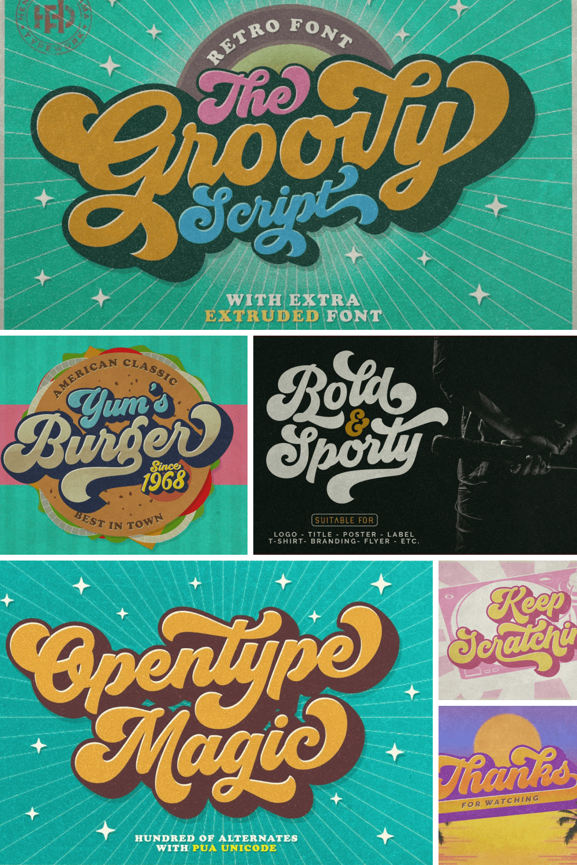 Groovy - retro font.