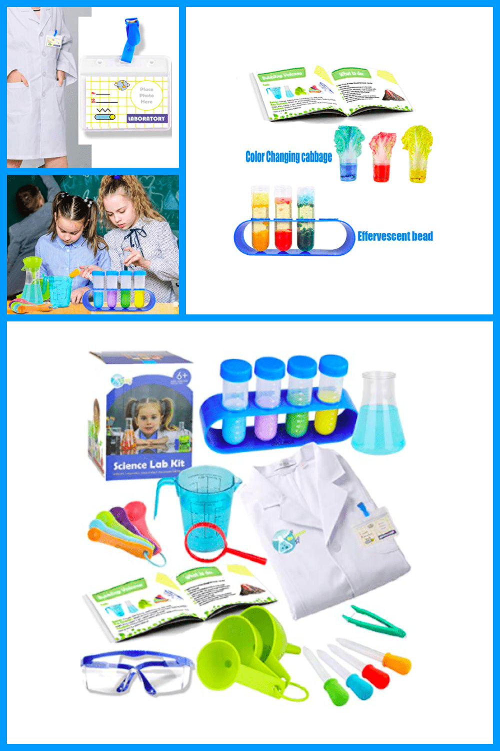 A young scientist with this chemical kit is provided for you.