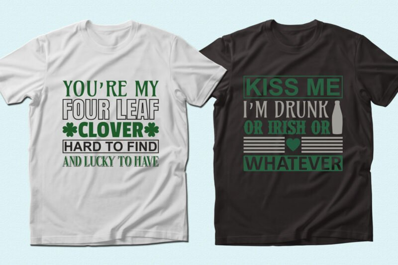 T-shirts with themed phrase.