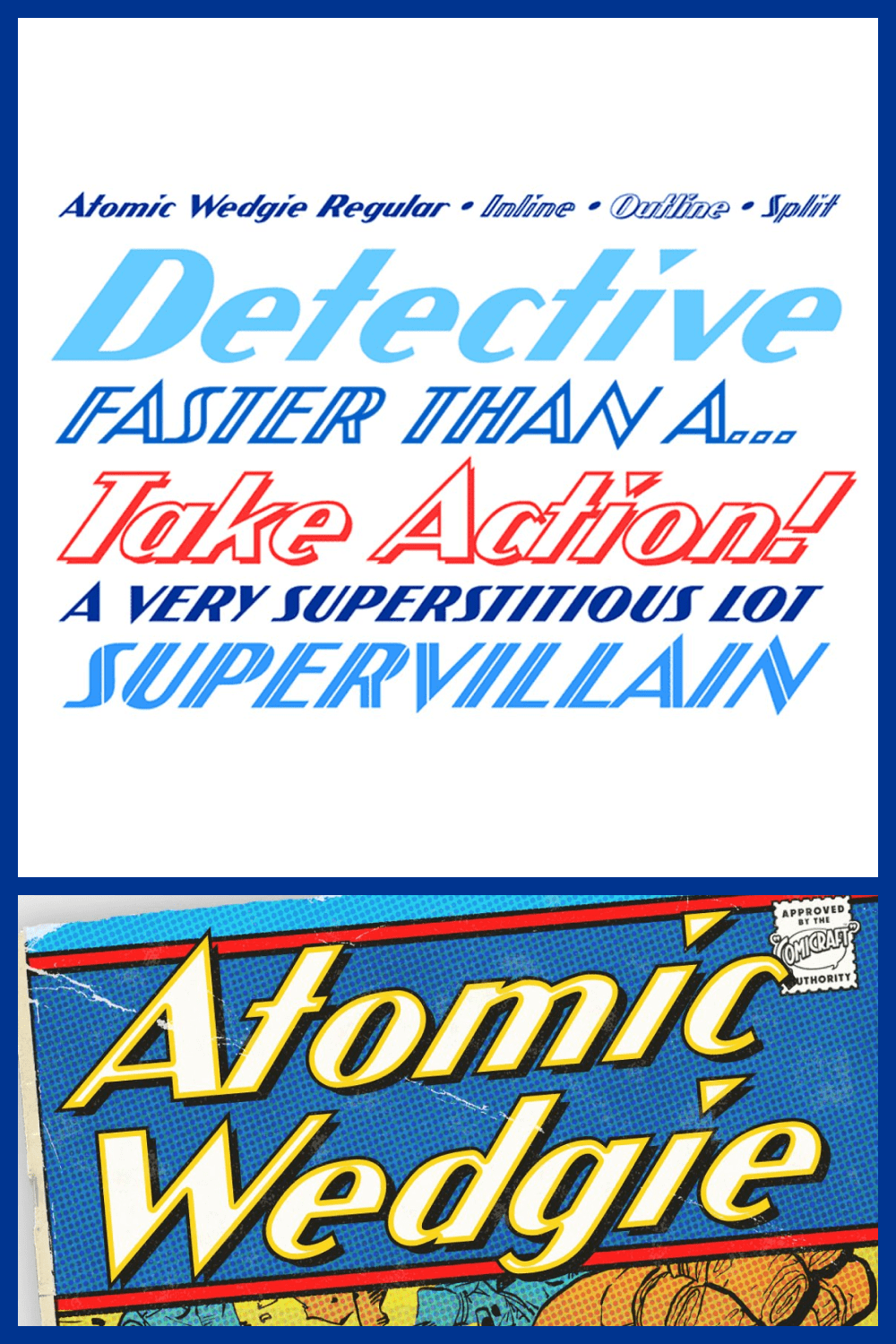 This font is a victory over evil, a real superhero.