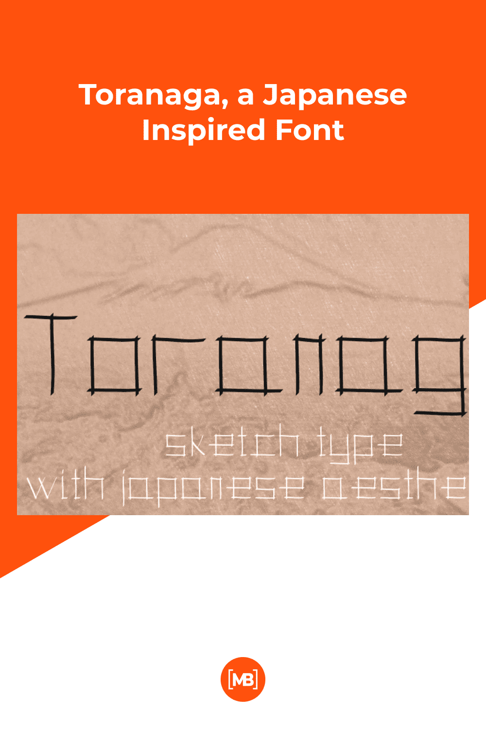 Toranaga font is a sketch typeface made out of sticks inspired by old Japanese writings.