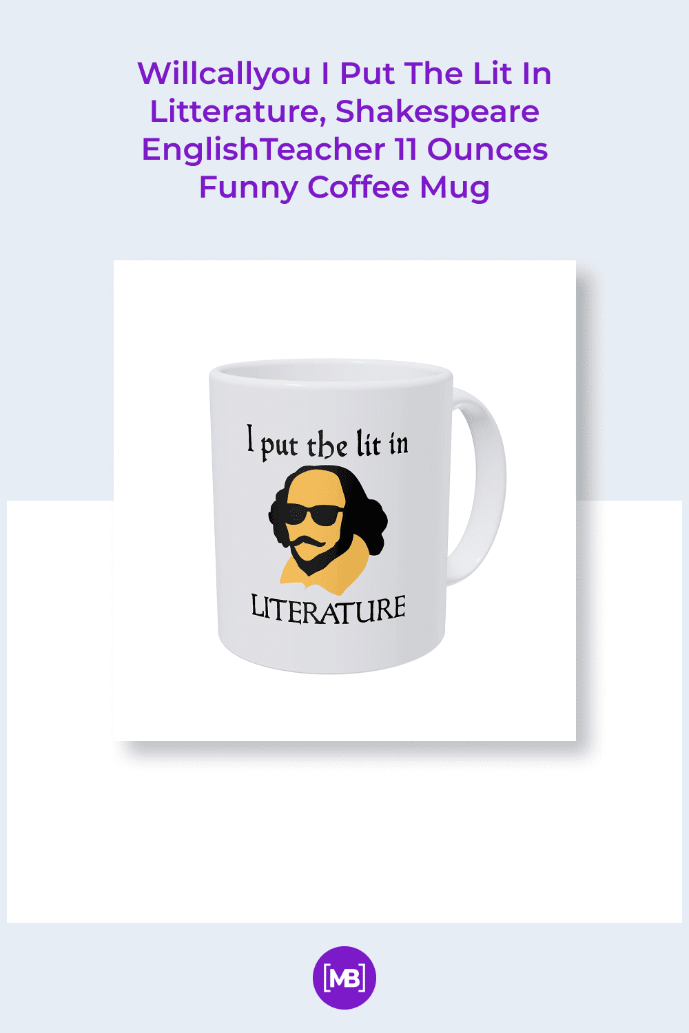Cool and cheeky mug with lettering and modern illustration.