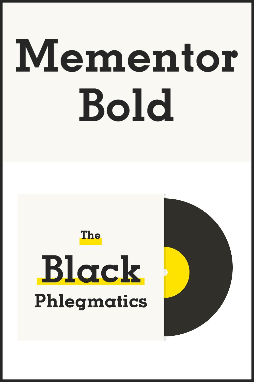 Mementor bold font.