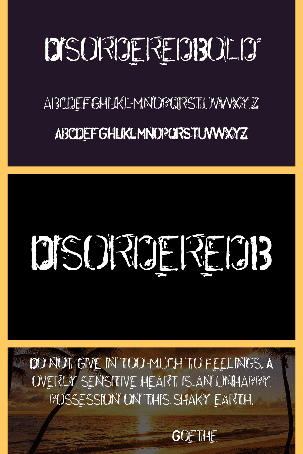 Disordered bold font.