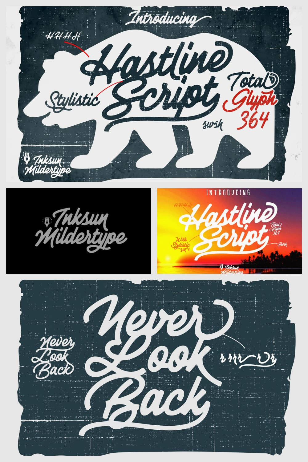 Hastline is a superb script typeface aimed for graphic designers who are looking to go creative creating posters, logos, invitation cards and more.