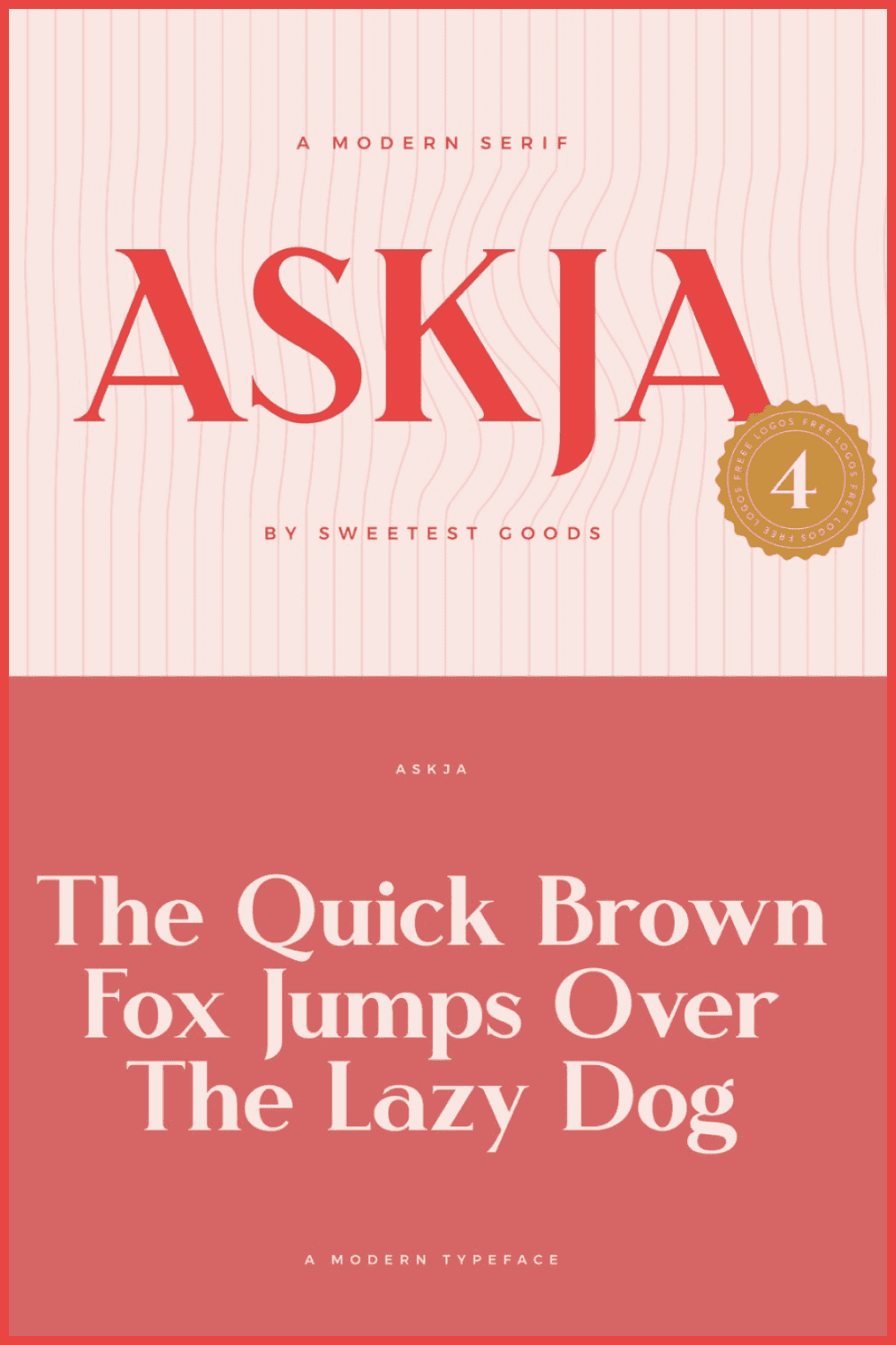 Askja is a unique, decorative typeface, loosely inspired by Art Nouveau but with a fresh and modern approach.
