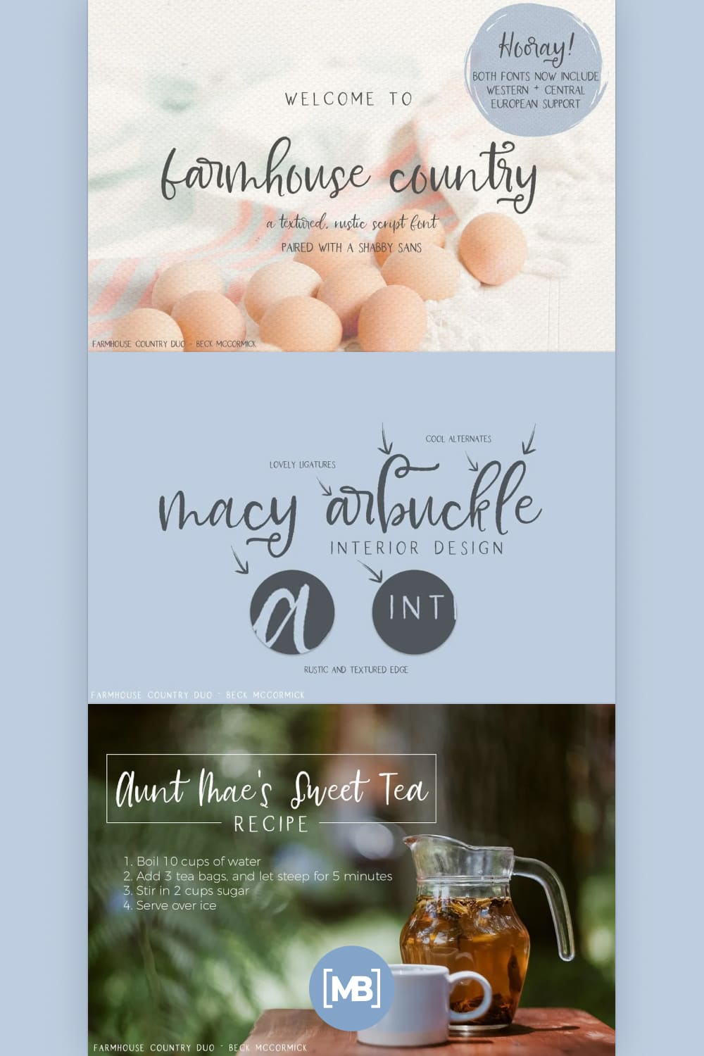 This is a stunning textured font duo sure to be perfect for all of your shabby chic font needs.