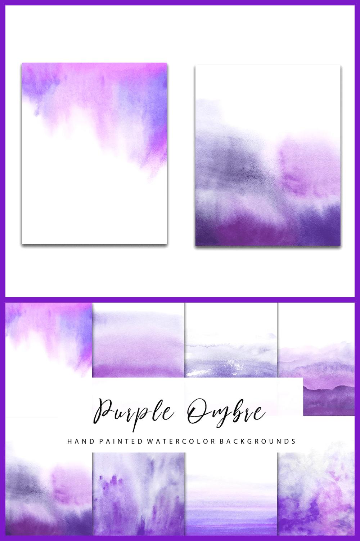Watercolor gradient purple texture.