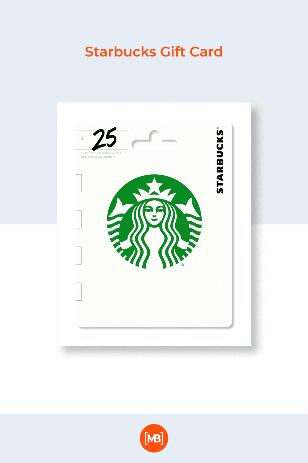 A gift card from Starbucks is always relevant. You need to be cheerful at school.