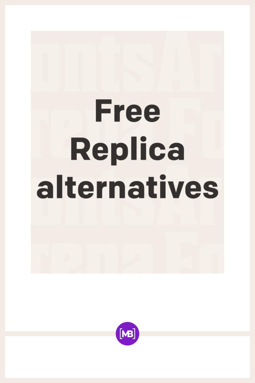 Replica font.