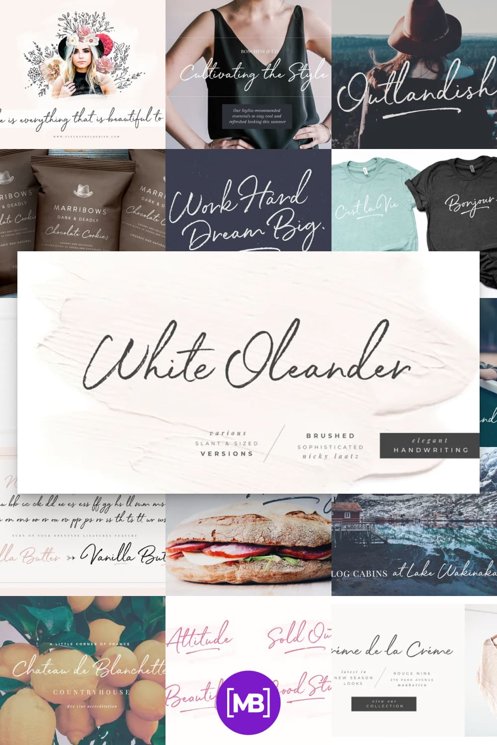 White Oleander is a stylish handwritten font, with subtle texture imperfections, to appear as authentic as possible while remaining clearly legible in your projects.