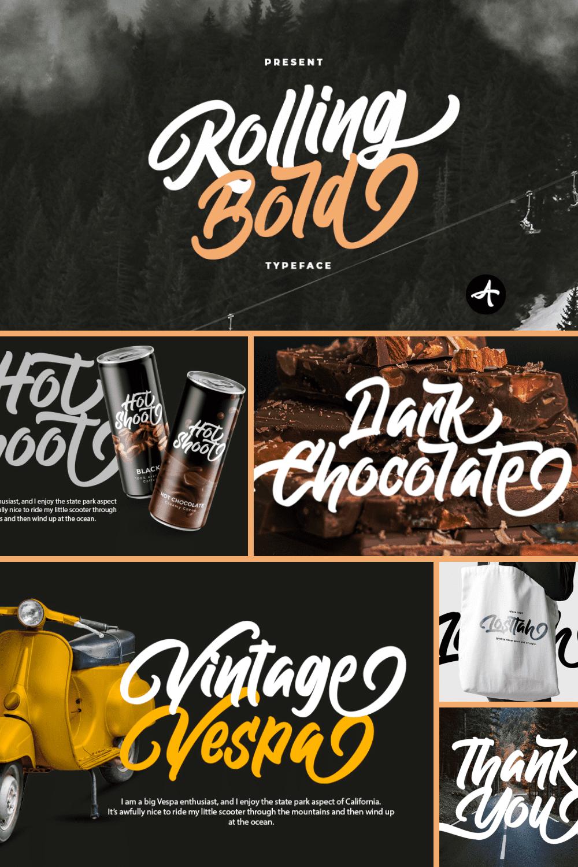 Rolling Bold Font.