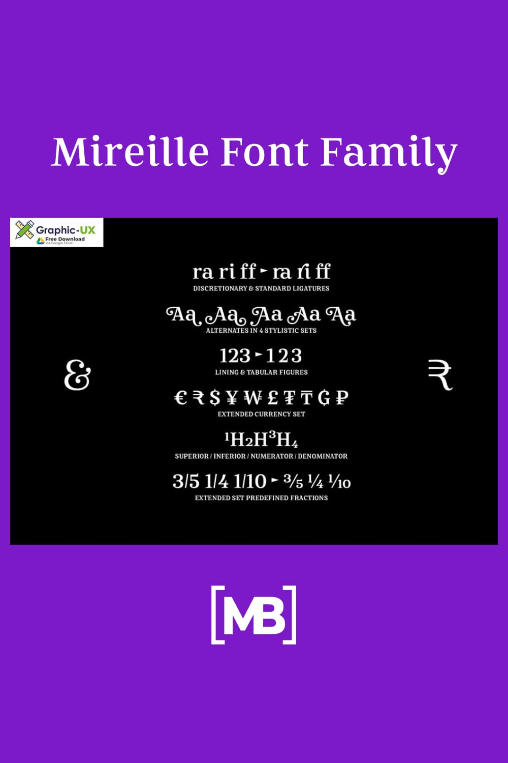 Mireille is a typographic homage to french culture. Your journey through gourmet food, classical music, opera.
