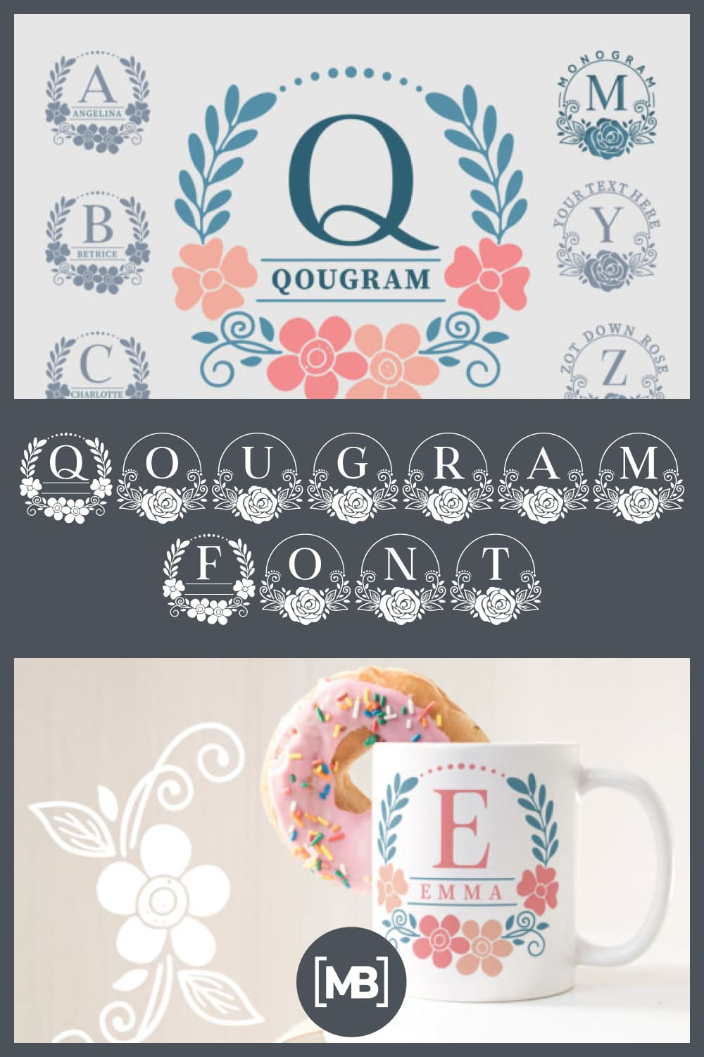 Qougram is a gorgeous display font. Is features a flower themed style that makes it perfect for wedding cards designs.