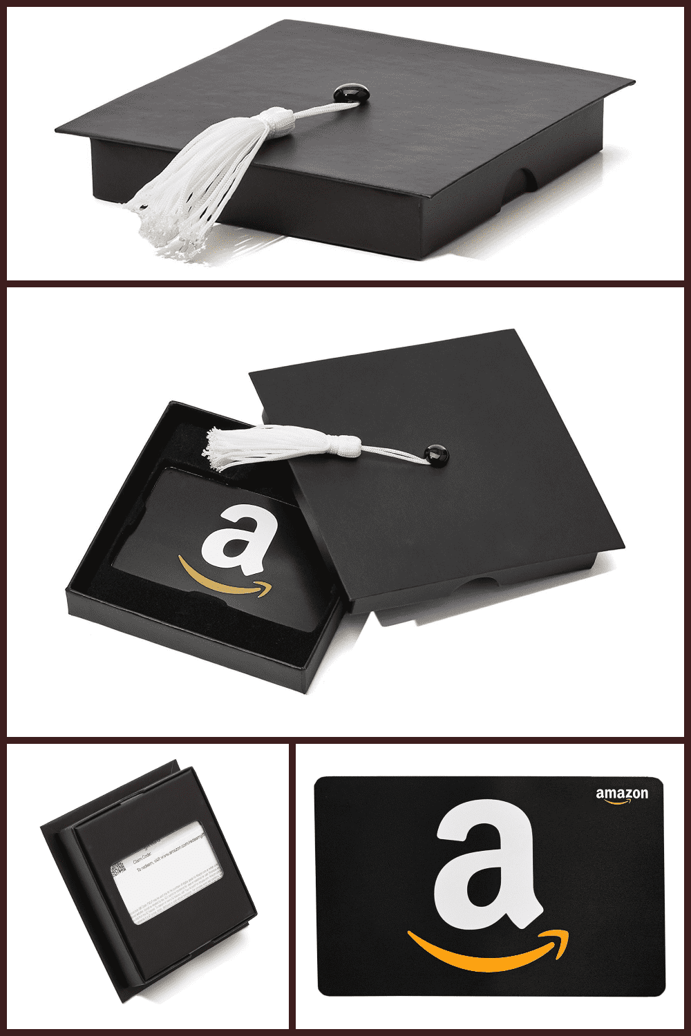 Gift card from Amazon in a stylish and creative box in the form of a graduate cap.